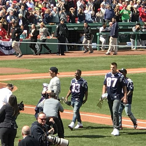 Boston Sports Desk by Patriots Honored At Fenway Park