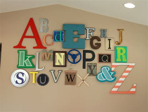 Alphabet Decor by Thrive 360 Living 10 Ideas For Playroom Walls