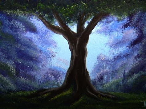 bob ross paintings without trees bob ross style the oak tree