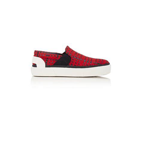 lanvin slip on sneakers lanvin s woven slip on sneakers in for lyst