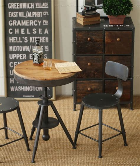 bar stool desk chair american country style retro industrial wrought iron