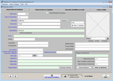 employee database template human resources freeware software free employee data