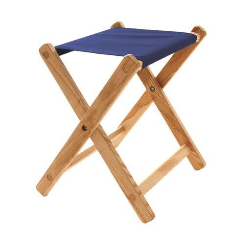 wood canvas deluxe folding stool blue ridge chair