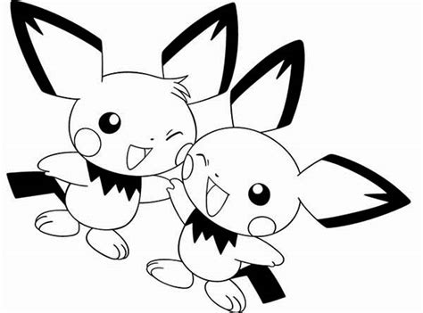 pokemon coloring pages pichu pichu kleurplaat