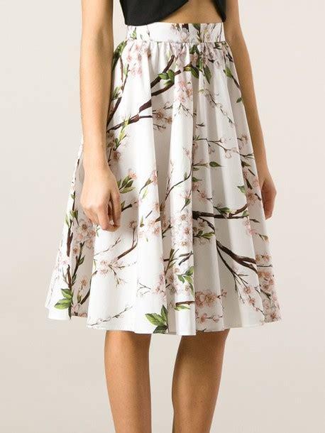 skirt floral printed skirt a line skirt dolce and