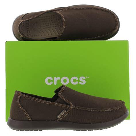 Sanda Loafer crocs santa clean cut loafer mens brown slip on shoes