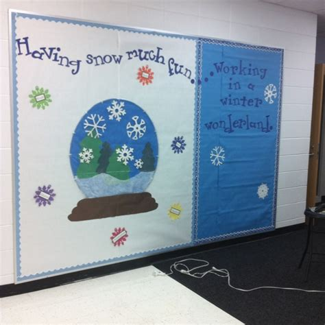 the winter bulletin board i and a co worker created that i