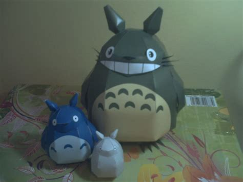 Totoro Papercraft - totoro papercraft by darkdragontanis on deviantart