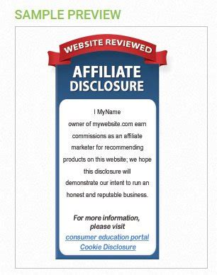 Affiliate Disclaimers For U K Websites Termsfeed Affiliate Link Disclosure Template