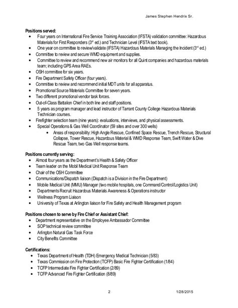 Hazardous Materials Specialist Sle Resume by Resume 2015
