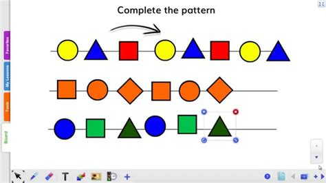 shape pattern interactive how to create an interactive quot complete the pattern