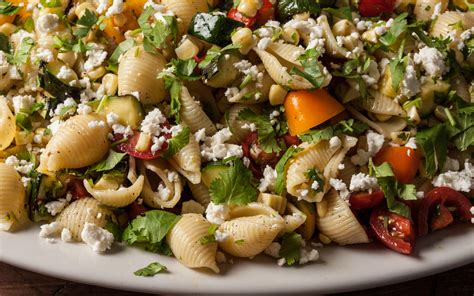 vegetarian pasta salad recipe grilled summer vegetable pasta salad recipe chowhound