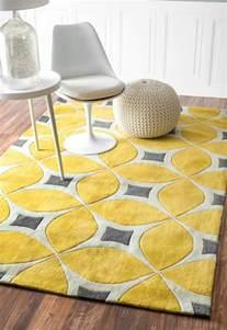 teppich rund gelb gelber teppich f 252 r eine frische und strahlende