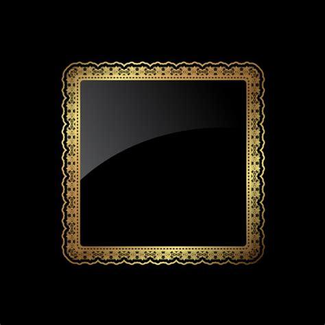 marco cuadrado redondeado dorado descargar vectores gratis