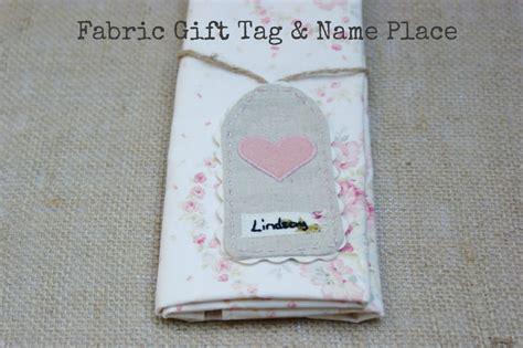 diy tutorial fabric gift tag and name place boho weddings for the boho luxe