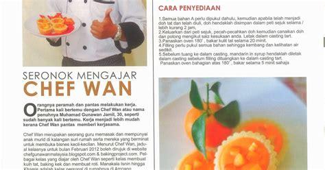 chef obie kelas masakan  info resepi majalah aroma