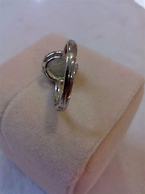 Cincin Lavender Wanita Perak Lapis Emas Putih jual pr56 cincin moonstone cincin perak lapis emas putih 18k desain 1 baru aksesoris