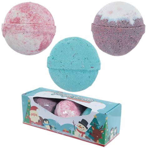 Handmade Bath Bombs Uk - handmade bath bomb set of 3 fragrances in gift