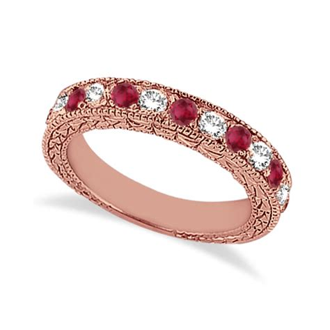 Ruby 9 05ct antique ruby wedding ring 18kt gold 1 05ct