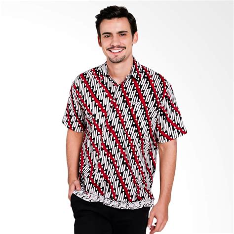 Kemeja Pria Ot Collar Shirt White jual seruni batik adrian shirts kemeja pria white