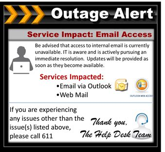 outage notification template email outage notification template email outage