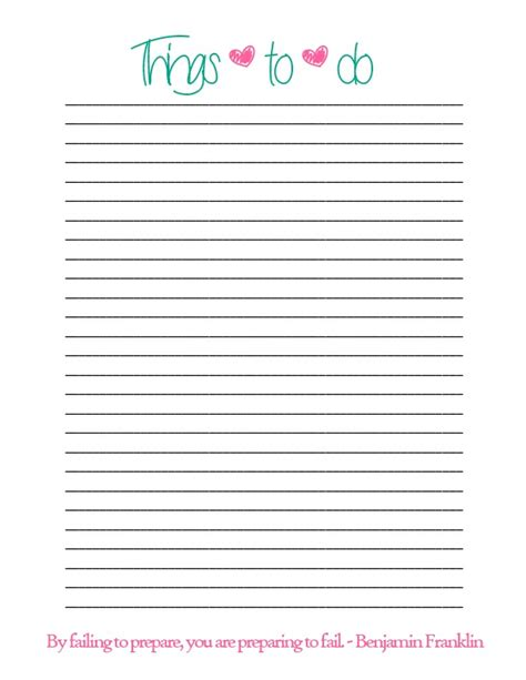 free printable simple to do list simple things to do list printable luv
