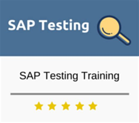 sap testing tutorial best software testing tools training institute in