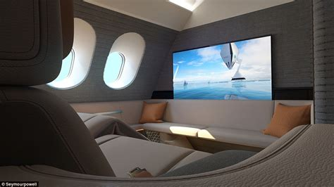 plane with beds seymourpowell unveils first spaces plane suite with king