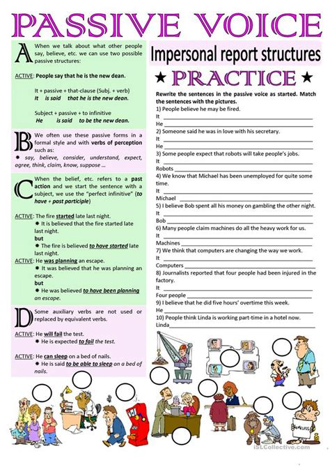 Business Letter Written In Passive Voice all worksheets 187 said worksheets printable worksheets