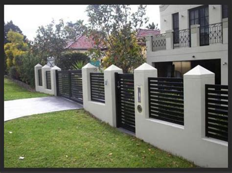 modern house gates and fences designs search