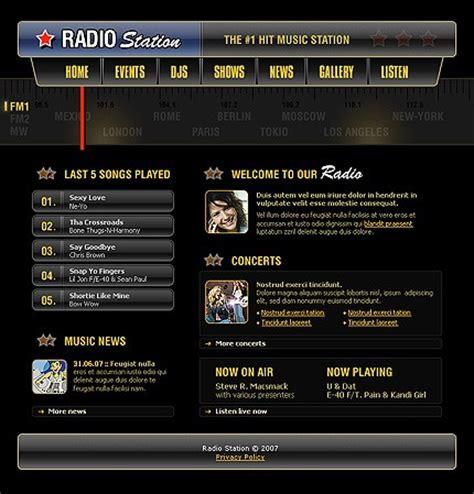 template photoshop radio template 17060 radio station website template