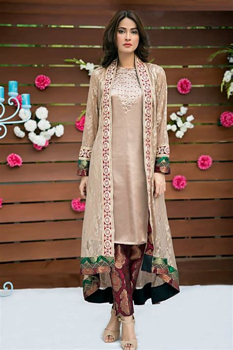 dress design long shirts stylish front open double shirt frock and gown designs