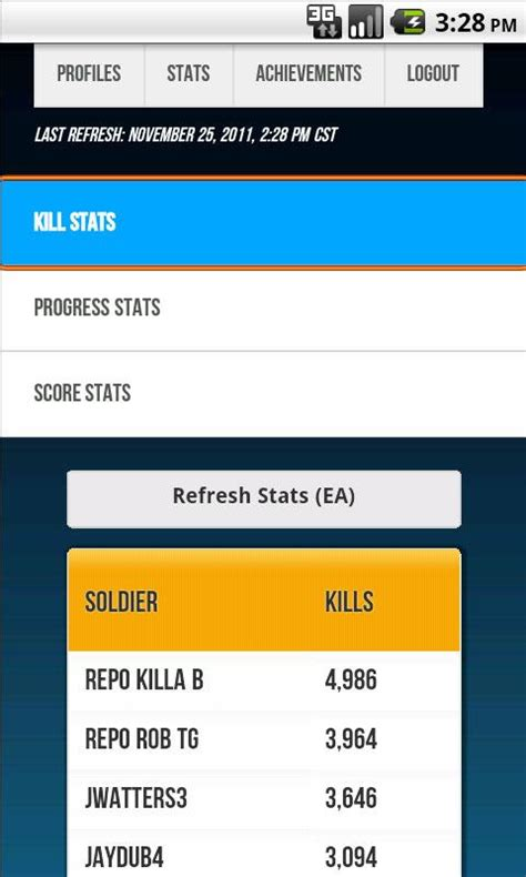 extended web apptech android apps appnaz com bf3 battlelog extended stats android app s3 web systems