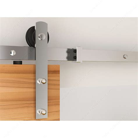 Barn Door Hardware Stainless Steel Zen Glide Stainless Steel Single Barn Door Hardware