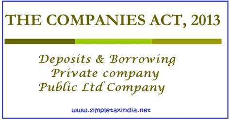 section 76 of the companies act deposits borrowing by private and public limited company