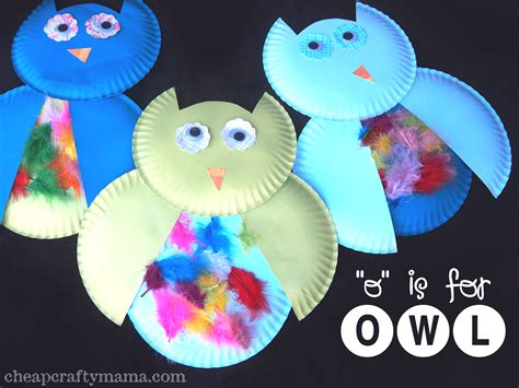 Paper Owls Crafts - 16 silly crafts can make with a paper plate owl