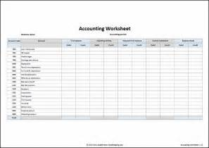 Account Sheet Template accounting worksheet template entry bookkeeping