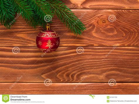 soft board decoration for christmas fir tree with decoration on wooden board soft fo stock photo image 61341153