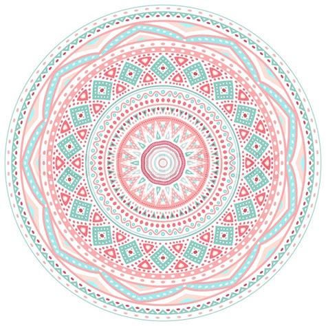 pattern circle pink decorative pink and blue round pattern frame on white