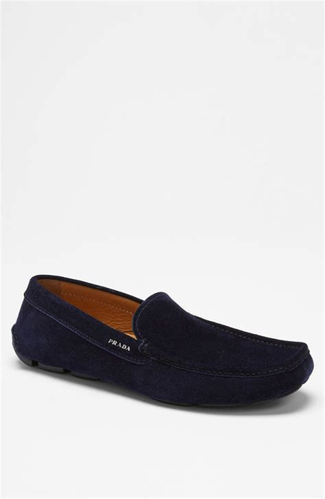 prada driving shoes navy suede loafers prada suede driving shoe where to