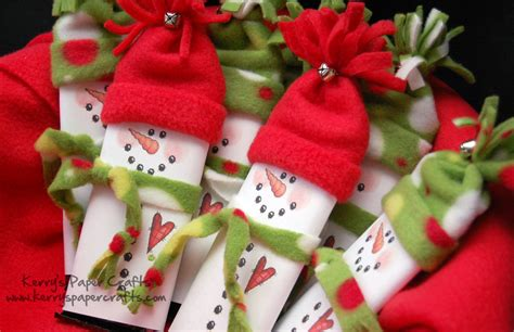 unique crafts for christmas snowmen hershey bar wrappers