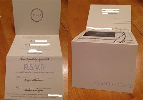 Tri Fold Perforated Paper - had to our tri fold invites weddingbee
