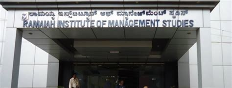 Ramaiah College Bangalore Mba Ranking by Ramaiah Institute Of Management Studies Rims Bangalore