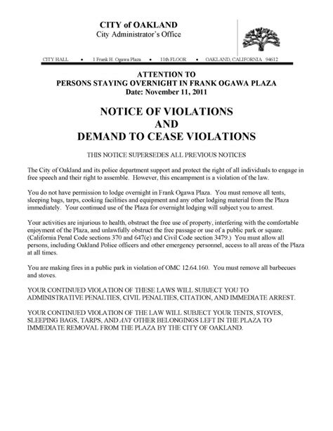 occupy oakland eviction notice public intelligence