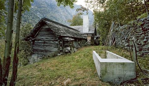 Building A Small Cabin In The Woods rustic swiss structure hides modern underground home
