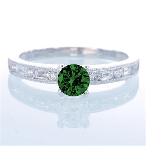 1 5 carat cut vintage emerald and engagement
