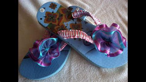 como decorar zapatos locos para niñas sandalias decoradas con liston youtube