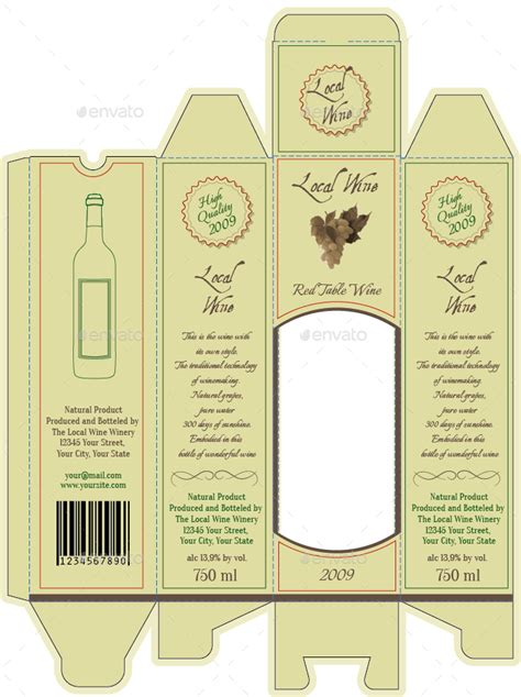 wine bottle package and bottle labels by intro logo
