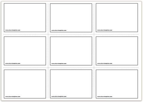 9 page card template landscape free printable flash cards template