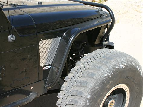 jeep fenders genright hi fender fenders with built in flares for